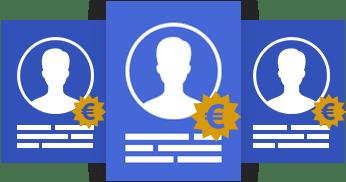 Vergelijk kosten van marketeers